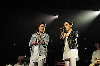 FORT LAUDERDALE, FL - NOVEMBER 16: Tegan Quin and Sarah Quin of Tegan & Sara perform onstage at Revolution on November 16, 2016 in Fort Lauderdale, Florida.  Credit: MPI10 / MediaPunch