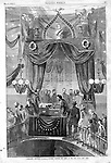 Mourning citizens viewing Lincoln's body in New York. Harper's Weekly, Sat May 6, 1865.