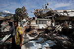 Padang, Western Sumatra, Indonesia, 7th October 2009:?A collapsed building on Dobi Street in Padang following a devastating earthquake in Western Sumatra that claimed the lives of an estimated 2000 people.?Photo: Joseph Feil