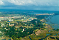 Coast Of South Florida, Aerial View of Alligator Alley