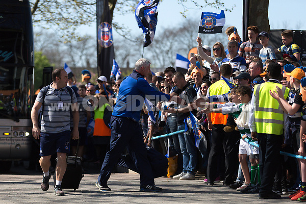 Bath Director of Rugby Todd Blackadder mingles with the crowd on his way to the stadium. The Clash, Aviva Premiership match, between Bath Rugby and Leicester Tigers on April 8, 2017 at Twickenham Stadium in London, England. Photo by: Rogan Thomson / JMP for Onside Images