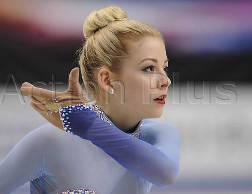 29.03.2014. Saitama, Japan.  Gracie Gold of the United States performs at the womens   free program during the International Skating Unions (ISU) World Figure Skating Championships in Saitama, Japan