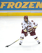 Mike Brennan (Boston College - Smithtown, NY) takes part in warmups.The Michigan State Spartans defeated the Boston College Eagles 3-1 (EN) to win the national championship in the final game of the 2007 Frozen Four at the Scottrade Center in St. Louis, Missouri on Saturday, April 7, 2007.