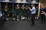 MILWAUKEE, WI - MARCH 16:  Vermont Catamounts Head Coach John Becker talks with this team during the 2017 NCAA Men's Basketball Tournament held at BMO Harris Bradley Center on March 16, 2017 in Milwaukee, Wisconsin. (Photo by Jamie Schwaberow/NCAA Photos via Getty Images)