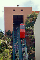 Funicular railway in the city of Guanajuato, Mexico