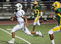 The Holmes High School Huskies play the South San High School Bobcats, Saturday, Aug. 29, 2009, at NISD Gustafson Stadium in San Antonio, Texas. (Darren Abate/pressphotointl.com)