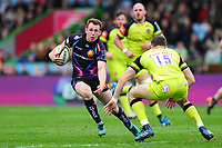 Max Bodilly of Exeter Chiefs goes on the attack. Anglo-Welsh Cup Final, between Exeter Chiefs and Leicester Tigers on March 19, 2017 at the Twickenham Stoop in London, England. Photo by: Patrick Khachfe / JMP