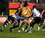 Fiji's Uraia Verenadavui tackles Sam Wykes. Australia U20 V Fiji U20. IRB Junior Rugby World Cup 2008© Ian Cook IJC Photography iancook@ijcphotography.co.uk www.ijcphotography.co.uk.