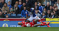 Blackburn Rovers' Marvin Emnes battles with Bristol City's David Cotterill<br /> <br /> Photographer Stephen White/CameraSport<br /> <br /> The EFL Sky Bet Championship - Blackburn Rovers v Bristol City - Monday 17th April 2017 - Ewood Park - Blackburn<br /> <br /> World Copyright &copy; 2017 CameraSport. All rights reserved. 43 Linden Ave. Countesthorpe. Leicester. England. LE8 5PG - Tel: +44 (0) 116 277 4147 - admin@camerasport.com - www.camerasport.com