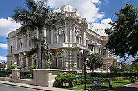 General view of the Palacio Canton and garden, 1900s, Merida, Yucatan, Mexico, pictured on July 18, 2006, in the evening. The Palacio Canton was designed by Enrico Deserti, directed by Manuel G. Canton Ramos, as the residence of General Francisco Canton, ex-governor of Yucatan. It was the first building in Merida to use elements such as ironwork and marble and is now a museum housing an important collection of Pre-Colombian Mayan objects. Merida is the state capital of Yucatan. Picture by Manuel Cohen.
