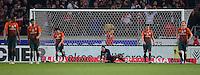FUSSBALL  1. BUNDESLIGA  SAISON 2011/2012  31. SPIELTAG 13.04.2012 VfB Stuttgart - SV Werder Bremen Enttaeuschung Werder Bremen nach dem Tor zum 2-1