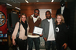 Hot 97's Angie Martinez, Fabolous, New York Giants' Ahmad Bradshaw and New York Care' Colleen Farrell Attend A Fabolous Way Foundation's 1st Annual 3 Kings Coat Drive wraps-up Press Conference and Autograph Signing In Conjunction With Dr. Jays, NY Cares, and Hot 97 Held at Dr. Jays 34th Street Store, NY  12/1/11
