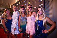 Haleiwa Hawaii, (Monday December 6, 2010) .Monday, Coco Ho (HAW), Stephanie Gilmore (AUS), Sally Fitzgibbons(AUS), Tyler Wright (AUS) and Clare Bevilacqua (AUS). 40th annual SURFER Poll Awards were held tonight at Turtle Bay Resort on Oahu's North Shore..Sal Masekela (USA)  returned to serve as the Master of Ceremonies for the event with charismatic Hawaiian surf star Fred Patacchia as co-host .This year's SURFER Poll Awards were held in honor of recently lost legend, three-time World Champion Andy Irons. While acknowledging all of the surfers lost this year, the event  put a heavy focus on Andy and the legacy he leaves behind in and out of the water. Another focal point of this year's show was  Kelly Slater's 10th world title win. Touted as the world's most dominant athlete, Kelly's accomplishments have catapulted the sport of surfing and garnered the world's attention. Kelly was award the male Surfer of the Year award with Stephanie Gilmore (AUS) taking out the Female Surfer of the Year..Photo: joliphotos.com
