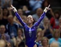 Gabrielle Douglas of Chow's competes on the vault during 2012 US Olympic Trials Gymnastics Finals at HP Pavilion in San Jose, California on July 1st, 2012.