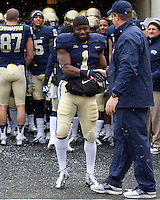 Ray Graham and head coach Paul Chryst shake hands before the game. The Pitt Panthers defeat the Rutgers Scarlet Knights 27-6 on Saturday, November 24, 2012 at Heinz Field , Pittsburgh, PA.