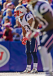 12 October 2014: New England Patriots strong safety Patrick Chung awaits the snap during a game against the Buffalo Bills at Ralph Wilson Stadium in Orchard Park, NY. The Patriots defeated the Bills 37-22 to move into first place in the AFC Eastern Division. Mandatory Credit: Ed Wolfstein Photo *** RAW (NEF) Image File Available ***