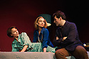 London, UK. 21.01.2013. Kristin Scott Thomas, Rufus Sewell and Lia Williams star in, OLD TIMES, the first of Pinter's plays to be staged at the West End theatre that was renamed in the playwright's honour last year. Kristin and Lia alternate the roles of Anna and Kate. This picture shows Kristin Scott Thomas as Anna and Lia Williams as Kate. Rufus Sewell plays Deeley. Directed by Ian Rickson. Lighting design by Peter Mumford. Set and costume design by Hildegard Bechtler. Photo credit: Jane Hobson.
