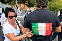 Roma 6 Settembre 2014<br />  Prima manifestazione nazionale &quot;Orgoglio Italiano&quot;.<br /> Per dire basta allo stupro della nostra patria, all' illeggittimit&agrave; della classe politica, per chiedere le dimissioni del governo, e la chiusura immediata delle frontiere italiane.<br /> Rome September 6, 2014 <br />  First national demostration  &quot;Italian Pride&quot;. <br /> To say stop the rape of our country, to illegitimacy of the political class, to demand the resignation of the government, and the immediate closure of the Italian borders.