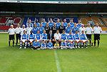 St Johnstone FC Season 2012-13....03.09.12.Back row from left, Tam Scobbie, Gregory Tade, David McCracken, Jamie Adams; Frazer Wright, Rowan Vine, Gary Miller and David Robertson..Middle row from left, Jocky Peebles Asst Physio, Alec Cleland Coach, Tommy Campbell Youth Development Manager, Dr Duncan Goodall, Stevie May, Liam Caddis, Jonny Tuffey, Alan Mannus, Zander Clark, Steven Anderson, Liam Craig, Atholl Henderson Community Coach, Graham Kirk Sports Sciences and John Kerr Physio..Front row from left, Sean Higgins, Nigel Hasselbaink, Kevin Moon, Dave Mackay Captain, Steve Lomas Manager, Tommy Wright Asst Mananger, Murray Davidson Vice Captain, Chris Millar, Callum Davidson and Paddy Cregg..Picture by Graeme Hart..Copyright Perthshire Picture Agency.Tel: 01738 623350  Mobile: 07990 594431