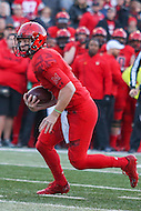 College Park, MD - November 12, 2016: Maryland Terrapins quarterback Caleb Rowe (7) runs the ball during game between Ohio St. and Maryland at  Capital One Field at Maryland Stadium in College Park, MD.  (Photo by Elliott Brown/Media Images International)