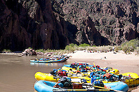 Phantom ranch to stop and get water, stretching and exchange passengers. river mile 88