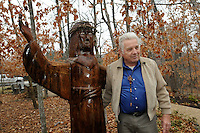 STAFF PHOTO FLIP PUTTHOFF <br /> CARVING OPPORTUNITY<br /> Dick Knapp turned a tall tree stump at Whitney Mountain Chapel near Garfield into a life-sized carving of Jesus Christ. Knapp      Dec. 2 2014      is a member of the congregation and has made other carvings for the church.