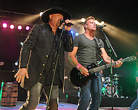 POMPANO BEACH FL - OCTOBER 15: Montgomery Gentry in concert at The Pompano Beach Amphitheater on October 15, 2016 in Pompano Beach, Florida. Credit: mpi04/MediaPunch