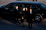 President Barack Obama waves goodbye as he leaves the US Capitol during the inauguration, January 21, 2013 in Washington, D.C.