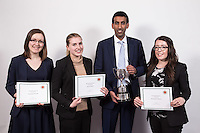 Winner of the Hammond Cup was Omar Majid of the Crown Prsecution Service, with runners-up Kayleigh Brooks of Browne Jacobsen (pictured left) and Laura Such of Cartwright King and 3rd place Alexandra Emery of Nelsons (right)