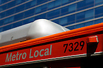 USA, California, Los Angeles. Metro Bus public transportation, Los Angeles.
