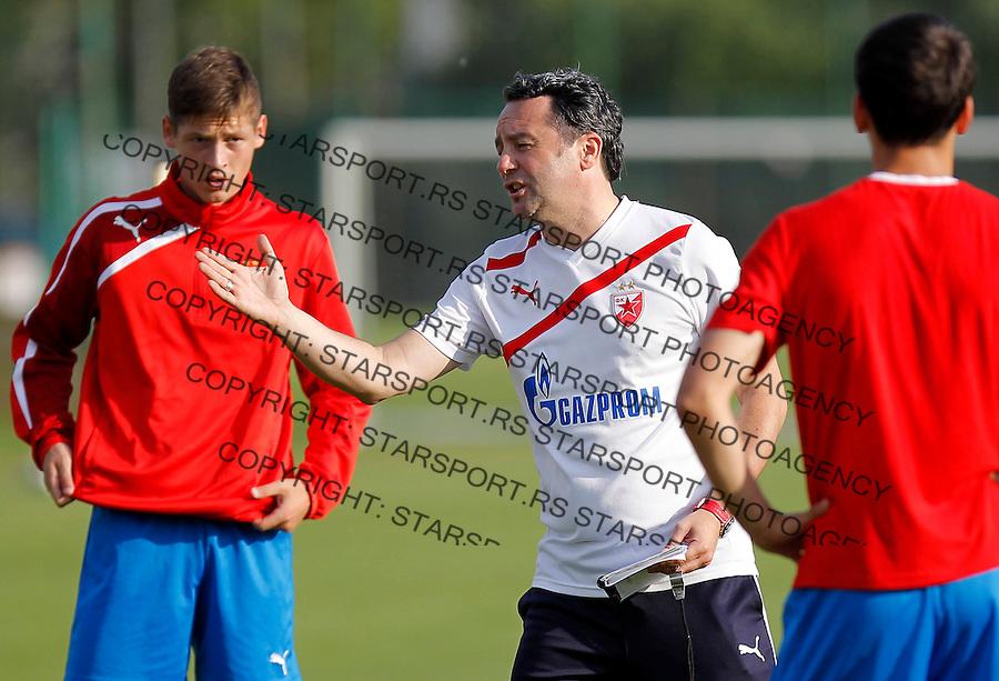 Fudbal season 2012-2013<br /> FK Crvena Zvezda <br /> Trening<br /> Head coach Slavisa Stojanovic and Nemanja Ahcin<br /> Brezice, 30.06.2013.<br /> foto: Srdjan Stevanovic/Starsportphoto &copy;