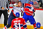 13 December 2008: Montreal Canadiens' defenseman Ryan O'Byrne (3) gets into a fight with Washington Capitals' center Brooks Laich in the first period at the Bell Centre in Montreal, Quebec, Canada. ***** Editorial Sales Only ***** Mandatory Photo Credit: Ed Wolfstein Photo