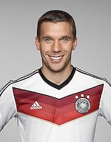 FUSSBALL   PORTRAIT TERMIN DEUTSCHE NATIONALMANNSCHAFT 24.05.2014 Lukas Podolski (Deutschland)