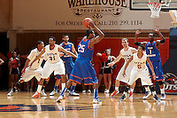 SAN ANTONIO, TX - MARCH 3, 2012: The University of Texas at Arlington Mavericks vs. The University of Texas at San Antonio Roadrunners Men's Basketball at the UTSA Convocation Center. (Photo by Jeff Huehn)