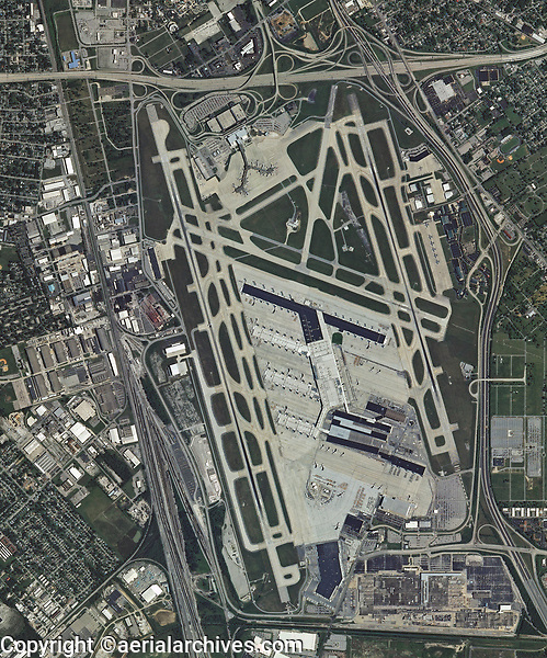 aerial photo map of  Louisville International Airport, Sandiford Field, SDF, Louisville, Kentucky