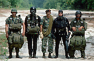 Special Force, April 1982. Fort Bragg, NC. The five Special Force units: Combat Parachutist, High Flight Parachutist, Mountain Training, Frogmen, and Forest Jumper.