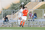 12 November 2008: Clemson's Tommy Drake (9) and Boston College's Conor Fitzpatrick (behind). Boston College defeated Clemson University 1-0 in the second sudden-victory overtime period at Koka Booth Stadium at WakeMed Soccer Park in Cary, NC in a men's ACC tournament quarterfinal game.