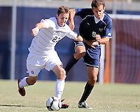 Ben Slingerland #23 of Georgetwn University pulls away from Dylan Renna #9 of Villanova University during a Big East match at North Kehoe Field, Georgetown University on October16 2010 in Washington D.C. Georgetown won 3-1.