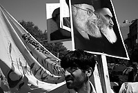 """Teheran, Iran, April 20, 2007.The Basiji (""""Mobilized""""), hard-line faction of the Iranian regime, have organized a demonstration at the end of the friday prayer to reinforce the women dress code restrictions..."""