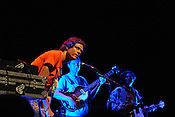 SEPTEMBER 6, 2012: Deerhoof plays at Memorial Auditorium. Night one, Hopscotch 2012. (photo by Kim Walker, kimwalkerphoto.com)