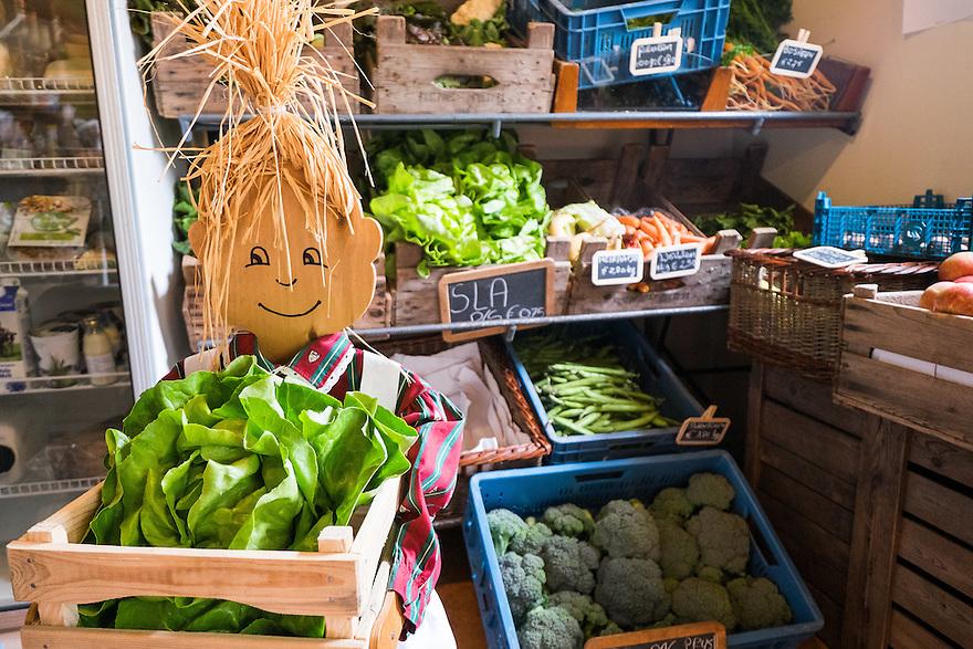 Nederland, Scherpenzeel, 20 juni 2015<br /> Open dag op biologische bedrijven. Lekker naar de Boer.  Door he hele land zijn veel biologische bedrijven open voor publiek. Er zijn informatiestands, rondleidingen, proeverijen. <br /> Boerderij Ruimzicht, biologisch dynamisch tuinbouwbedrijf met boerderijwinkel. <br /> <br /> Foto: Michiel Wijnbergh