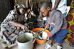 Meal time for children in the Mary Morris Orphanage, run by the United Methodist Church in Kamina, Democratic Republic of the Congo.