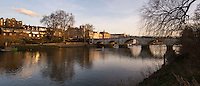 BNPS.co.uk (01202 558833)<br /> Pic: PhilYeomans/BNPS<br /> <br /> Richmond bridge today.<br /> <br /> 'Old man river, he just keeps rollin' - A remarkable collection of panoramic photographs of the Thames taken 160 years ago have emerged for auction, and they reveal how little the famous old river has changed in the last century and a half.<br /> <br /> They follow the river from London to Oxford in 40 photographs providing a fascinating insight into how the famous river looked in the mid-19th century.<br /> <br /> Londoner Victor Prout started photographing the Thames in 1857 using a camera which would produce wide-vision images because of a lens that swung round and 'scanned' sections of the picture.<br /> <br /> This rare complete copy of the first edition of Prout's pioneering panoramics has emerged for auction and is tipped to sell for &pound;12,000 when they go under the hammer at Bonhams on March 1.