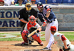 30 May 2011: Washington Nationals first baseman Michael Morse in action against the Philadelphia Phillies at Nationals Park in Washington, District of Columbia. The Phillies defeated the Nationals 5-4 to take the first game of their 3-game series. Mandatory Credit: Ed Wolfstein Photo