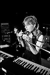 Paul and Linda McCartney Wings Tour 1975. Linda during a rehearsal in the Elstree rehearsal studio. London. England..