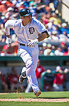 14 March 2014: Detroit Tigers infielder Nick Castellanos in action during a Spring Training Game against the Washington Nationals at Joker Marchant Stadium in Lakeland, Florida. The Tigers defeated the Nationals 12-6 in Grapefruit League play. Mandatory Credit: Ed Wolfstein Photo *** RAW (NEF) Image File Available ***