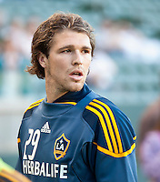 CARSON, CA – July 9, 2011: LA Galaxy defender Kyle Davies (29) before the match between LA Galaxy and Chicago Fire at the Home Depot Center in Carson, California. Final score LA Galaxy 2, Chicago Fire FC 1.
