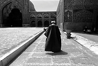 Isphahan, Iran, March 23, 2007.The Jameh mosque courtyeard..