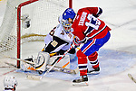 20 December 2008: Buffalo Sabres' goaltender Ryan Miller makes a save in the third period against the Montreal Canadiens at the Bell Centre in Montreal, Quebec, Canada. With both teams coming off wins, the Canadiens extended their winning streak by defeating the Sabres 4-3 in overtime. ***** Editorial Sales Only ***** Mandatory Photo Credit: Ed Wolfstein Photo