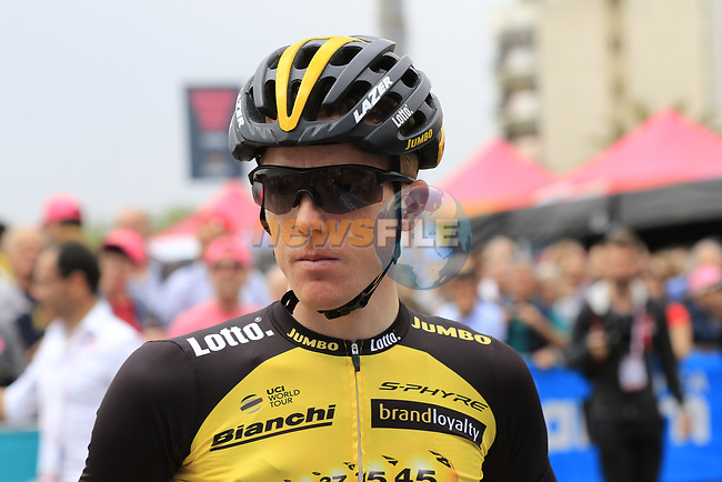 Steven Kruijswijk (NED) Team Lotto NL-Jumbo at sign on before Stage 2 of the 100th edition of the Giro d'Italia 2017, running 221km from Olbia to Tortoli, Sardinia, Italy. 6th May 2017.<br /> Picture: Eoin Clarke | Cyclefile<br /> <br /> <br /> All photos usage must carry mandatory copyright credit (&copy; Cyclefile | Eoin Clarke)